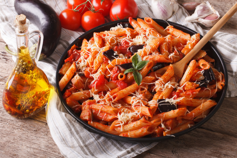 ricette pasta penne alla mediterranea