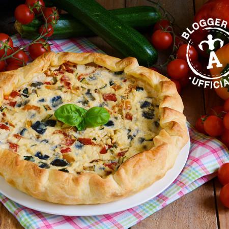 ricette pasta sfoglia quiche di formaggi verdure